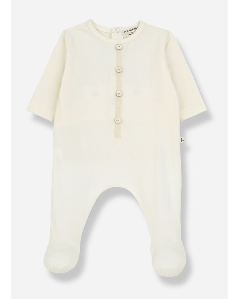 1+ In The Family didier jumsuit with feet - ecru