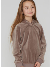 Designer Remix Girls frances sweat hoodie - dusty brown