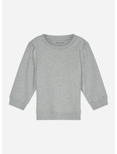 Designer Remix Girls parker sleeve sweat - grey melange