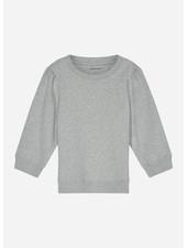 Designer Remix Girls parker sleeve sweat - grey melange
