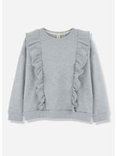 Kids on the moon grey cloud frill sweatshirt