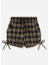 Kids on the moon khaki classic check bloomers shorts