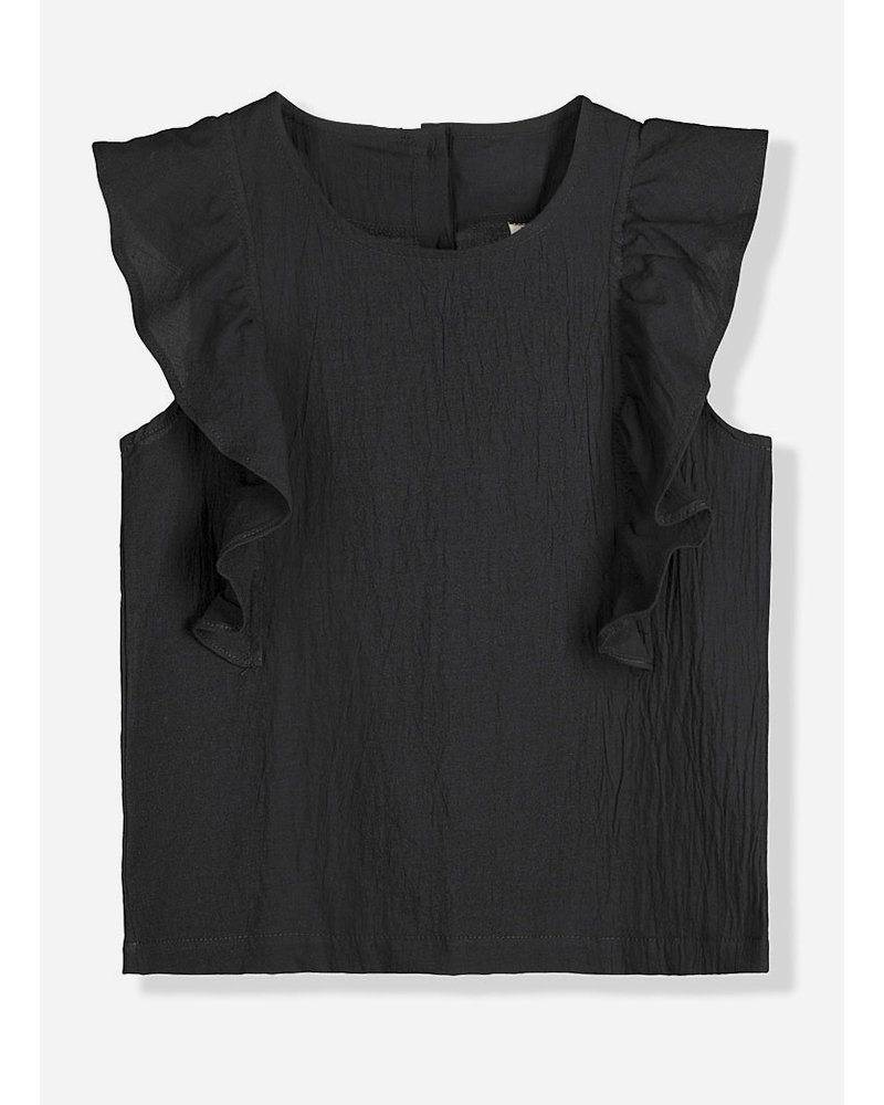 Kids on the moon noir ruffle top