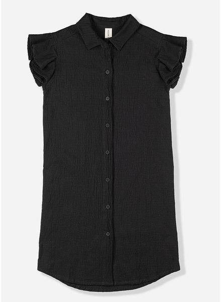 Kids on the moon noir shirt dress