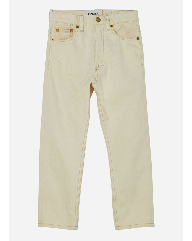Finger in the nose ollibis 5 pockets tapered fit jeans - raw ecru