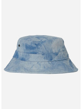 Finger in the nose buck tie & dye bucket hat - blue denim