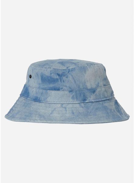 Finger in the nose buck tie & dye bucket hat - blue denim