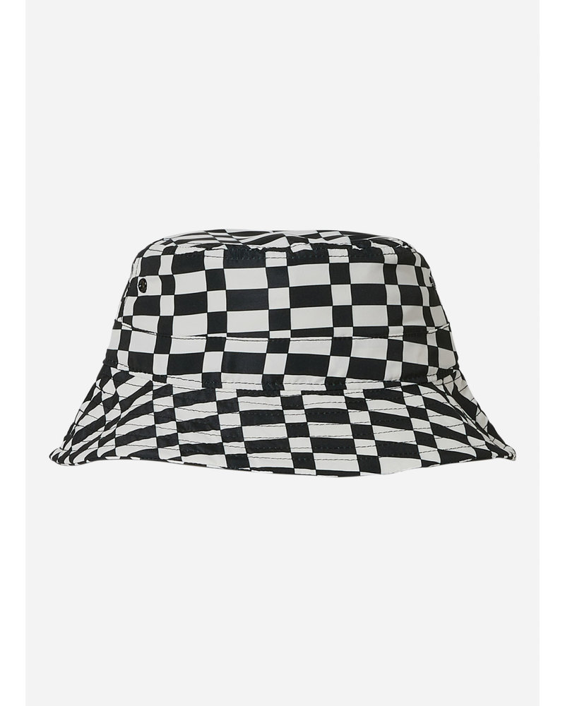 Finger in the nose buck checkers  bucket hat - ash black off white