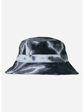 Finger in the nose buck tye & dye bucket hat - black off white