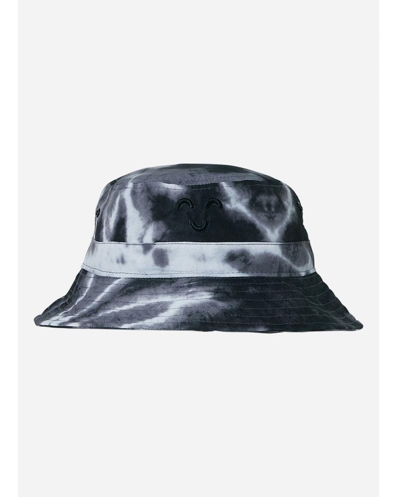 Finger in the nose buck tye & dye bucket hat - black off white