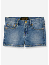 Finger in the nose nova 5 pockets mini shorts - blue denim