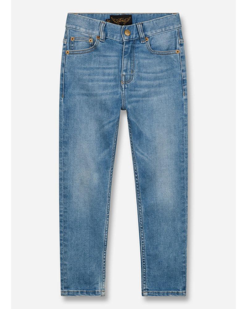 Finger in the nose ewan light 5 pockets comfort fit jeans - blue denim