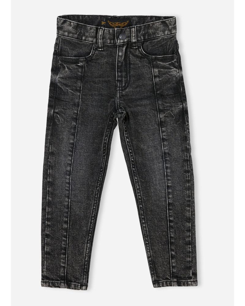 Finger in the nose emma 5 pockets boyfriend fit jeans - snow black