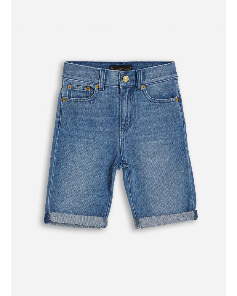 Finger in the nose edmond 5 pockets comfort fit shorts - medium blue