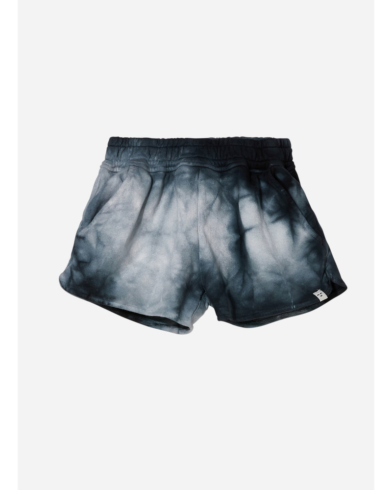 Finger in the nose holiday tie & dye elasticated shorts - soft black