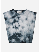 Finger in the nose haley tie & dye sleeveless tshirt - soft black
