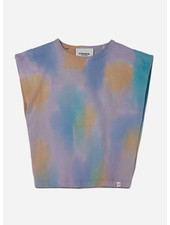 Finger in the nose haley tie & dye sleeveless tshirt - rainbow