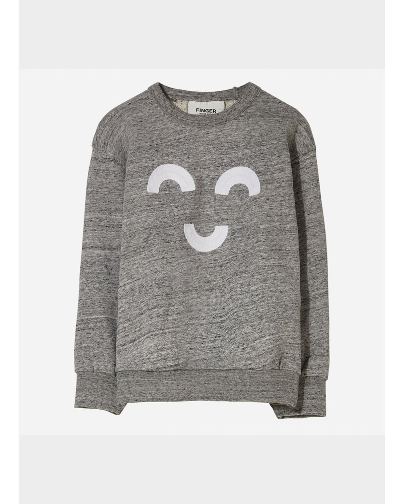 Finger in the nose wind macaroni loose sweater - heather grey