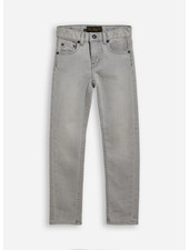 Finger in the nose icon bleached 5 pockets slim fit jeans - grey