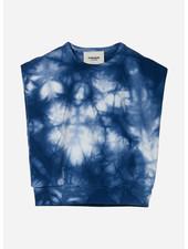 Finger in the nose carol tie & dye sleeveless sweater - work blue