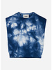 Finger in the nose carol tie & dye sleeveless sweater - work blue