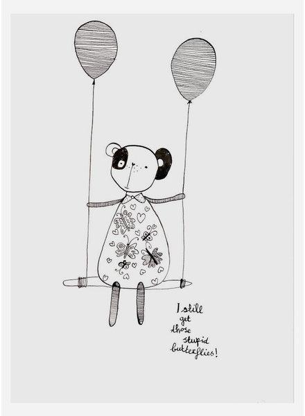 Pomme de Jus originele tekening - A3 - I feel butterflies