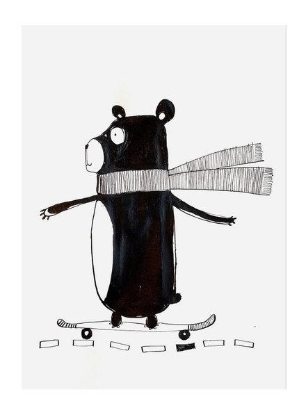 Pomme de Jus originele tekening - A4 - skate beer