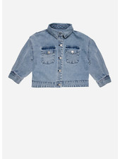 The New Society lola jacket denim light blue