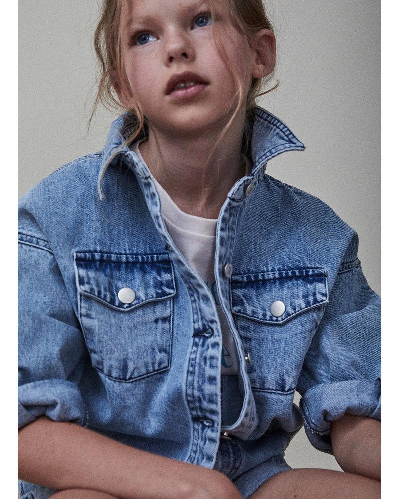 The New Society lola jacket denim light blue