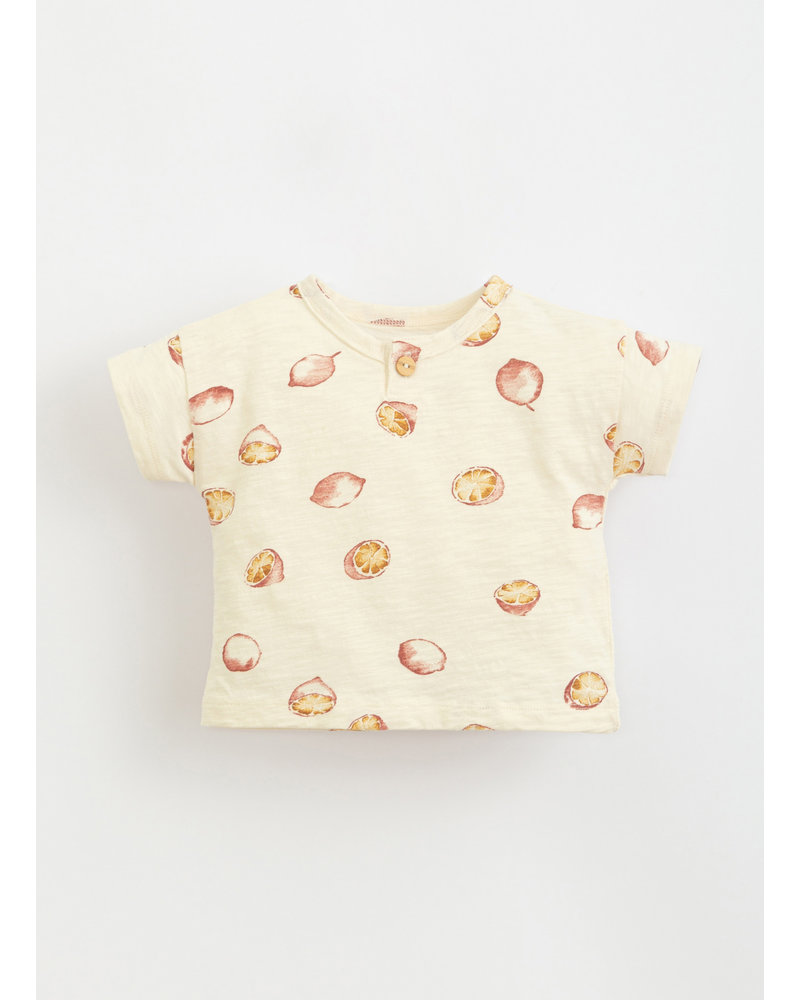 Play Up printed flame jersey tshirt - dandelion - 1AI11055 - E360N