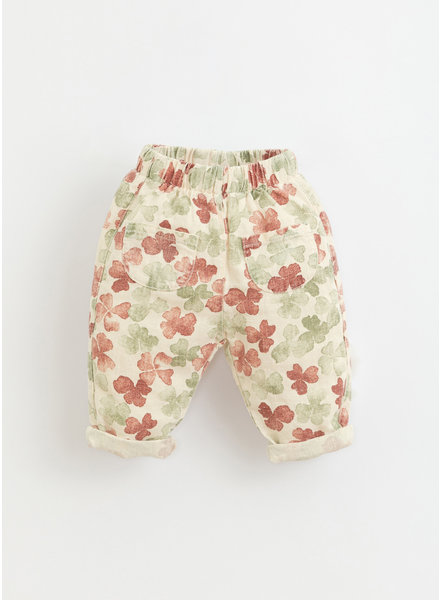 Play Up printed linen trousers -  dandelion - 1AI11604 - E372N