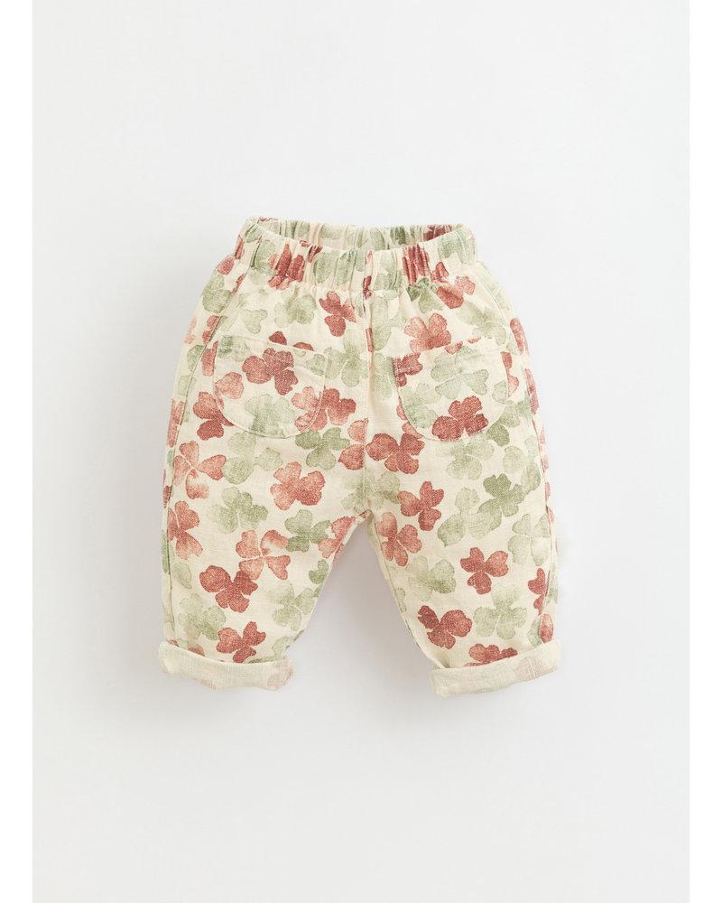 Play Up printed linen trousers -  dandelion - 1AI11604 - E372N