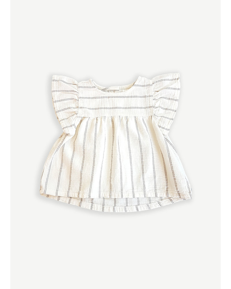 Play Up striped woven tunic - dandelion - 2AI11302 - P0058