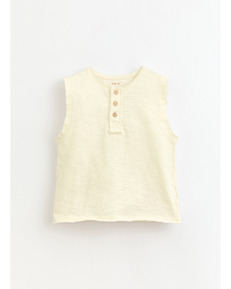 Play Up flame jersey sleeveless tshirt - dandelion - 3AI10902 - P0058