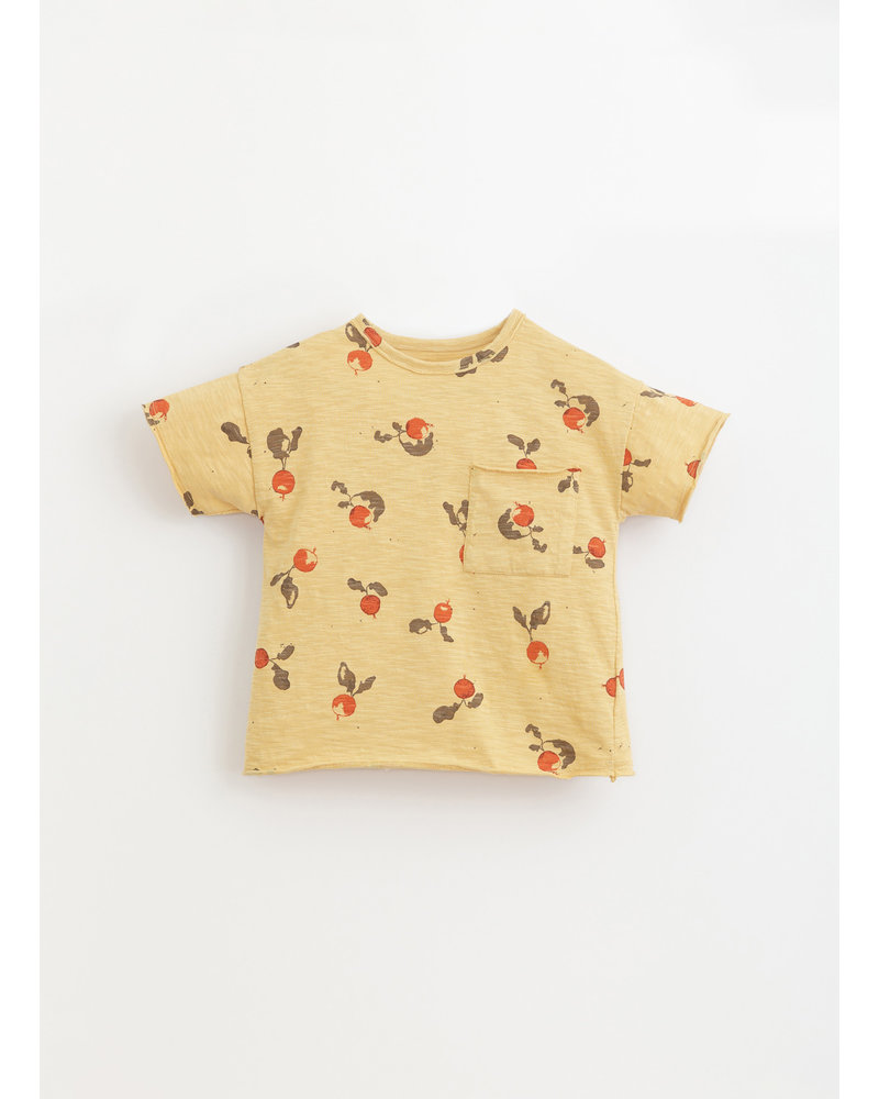 Play Up printed flame jersey tshirt - straw - 3AI11057 - E380Y