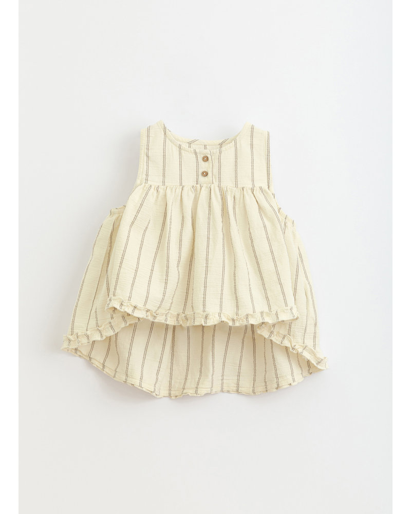 Play Up striped woven tunic- dandelion - 4AI11302 - P0058