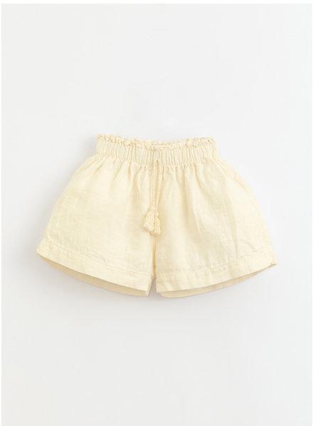 Play Up linen shorts - dandelion - 4AI11701 - P0058
