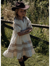 Wander & Wonder heather dress - ecru ditsy