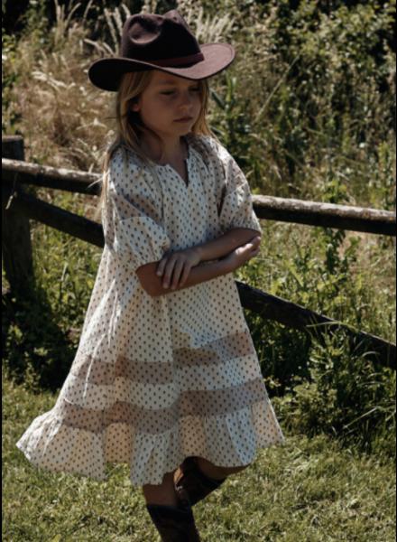 Wander & Wonder heather dress - ecru ditsy