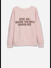 Wander & Wonder summer sweatshirt - baby pink