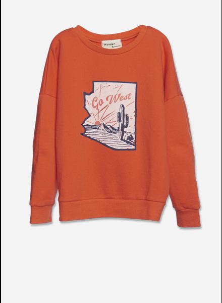 Wander & Wonder summer sweatshirt - fire