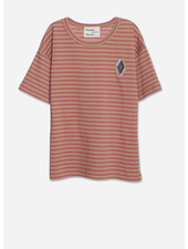 Wander & Wonder aztec strip tee - clay stripe