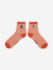 Bobo Choses orange stripes short socks