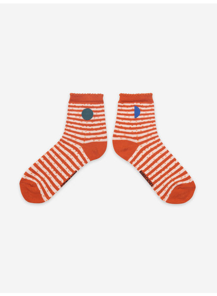 Bobo Choses orange stripes short socks