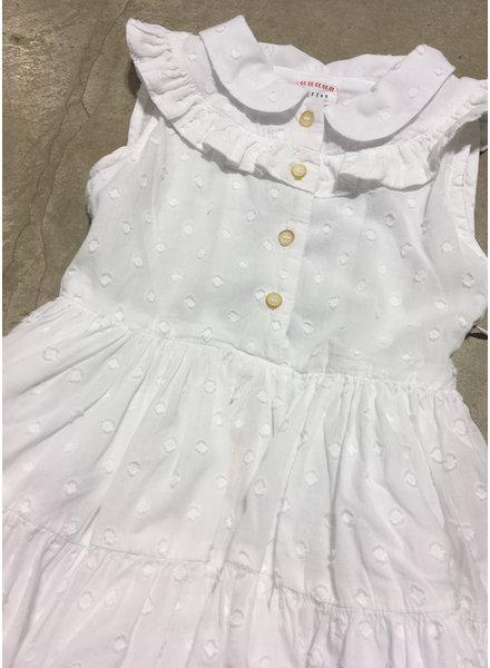 Morley nelly dots white girls dress