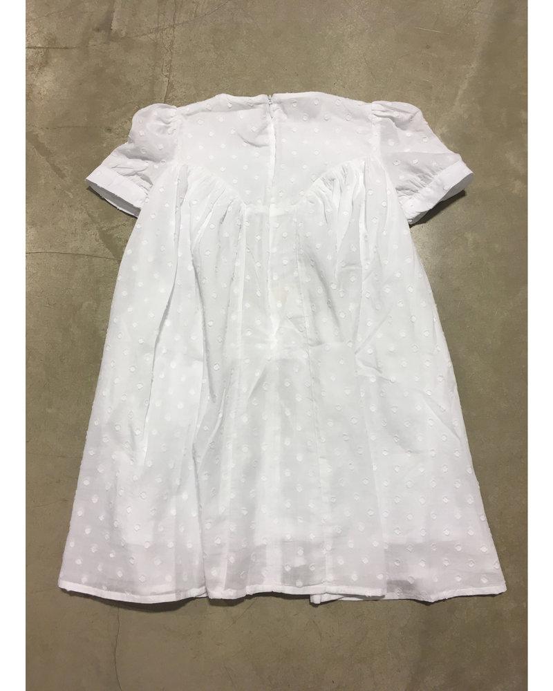 Morley noella dots white girls dress