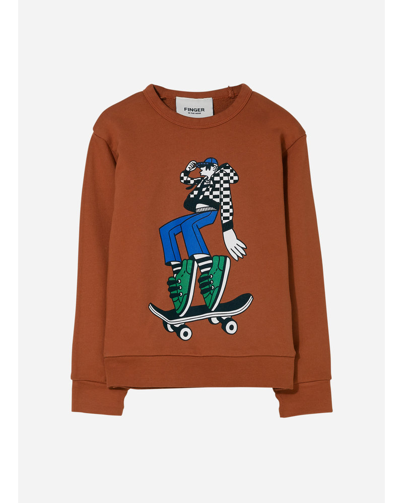Finger in the nose brian dance sweater - brick