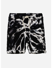 Finger in the nose new grounded tie & dye bermuda - black white