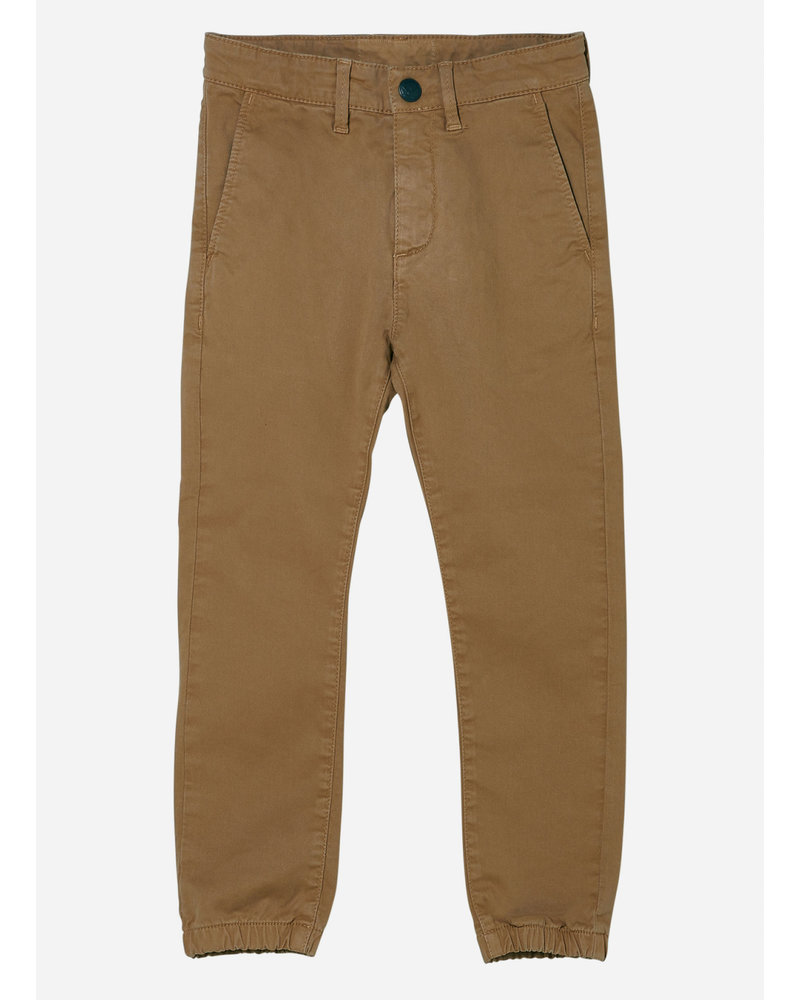 Finger in the nose skater elasticed bottom chino fit pants - caramel