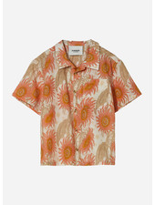 Finger in the nose chuck short sleeve shirt - caramel sunflower
